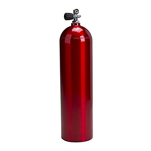 80cf Alum Scuba Tank, Catalina, Electric Red