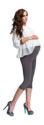Maternidad Leggings Algodón Pantalones Cortos 3/4 Confortable Polainas Embarazo Beige