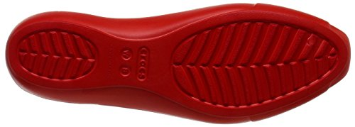 Crocs Siennaflatw - Bailarinas Mujer Rosso (Flame)