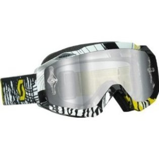 Scott Sports Hustle Goggles with Works Silver Chrome and Clear AFC Lens (Oil Slick Yellow/Black, One (Clear Afc Lens)