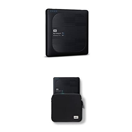 cfb245baf6d6 Image Unavailable. Image not available for. Color: WD 2TB My Passport  Wireless Pro Portable External Hard Drive - WIFI USB 3.0 - WDBP2P0020BBK