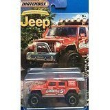 Superlift Jeep - MATCHBOX LIMITED EDITION JEEP ANNIVERSARY RED JEEP WRANGLER SUPERLIFT DIE-CAST