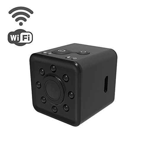 Mini Spy Camera WiFi Hidden Camera Wireless HD 1080P Indoor Home Small Spy Cam Security Cameras/Nanny Cam Built-in Battery with Night Vision for iPhone/Android Phone/iPad/PC