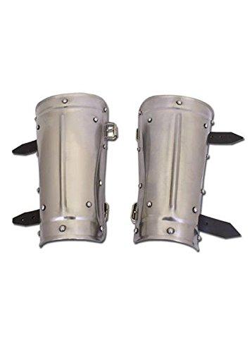 Protector de brazos acero, estilo de la Edad Media