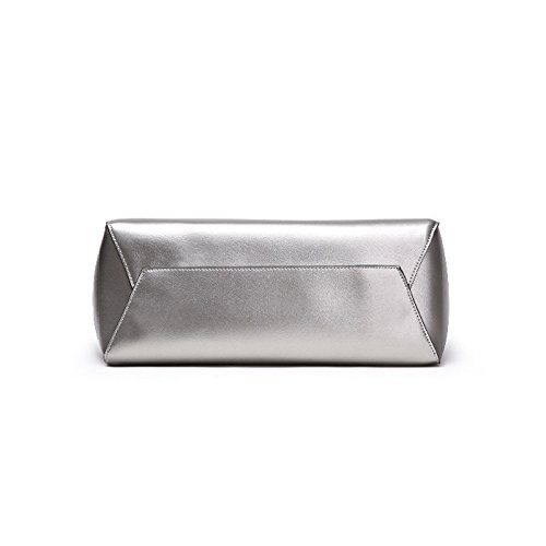Capienza Tracolla Silver Borsa Pelle In Grande Di A Vera 8Ixqwx7p5