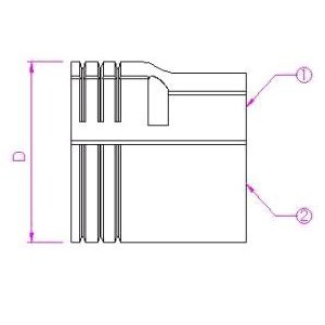 10個セット 配管化粧カバー ジャバラ継手 66タイプ ブラック KJT-65-B_set
