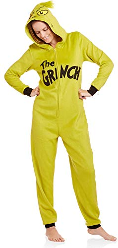 Grinch Women's Licensed Sleepwear Adult Costume Union Suit Pajama (XS-3X), The Grinch, Size XX-Large for $<!--$24.99-->