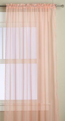 Editex Home Textiles Monique Sheer Window Panel, 55 by 63-Inch, Peach