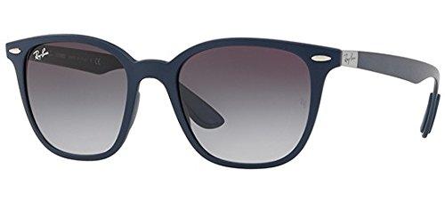 Ray-Ban Plastic Unisex Square Sunglasses, Matte Dark Blue, 51 - Blue Ray Liteforce Ban