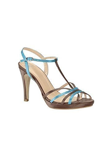High-heeled sandals from Satin from Best Connections Chocolate Brown CdSim2Y
