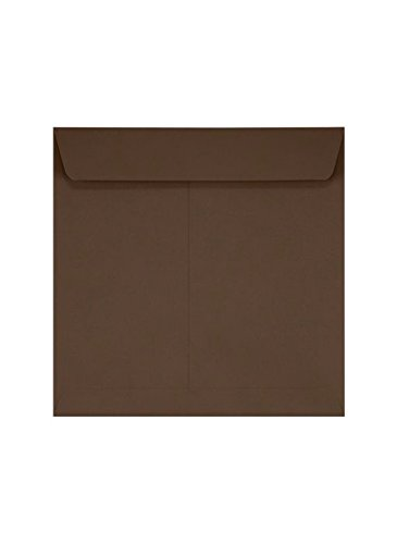 UPC 848614111435, 7 1/2 x 7 1/2 Square Envelopes - Chocolate Brown (1000 Qty.)