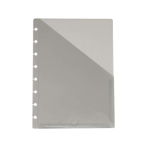 Staples? Arc Notebook Dual Pocket Poly Dividers, Junior-sized, Smoke, 2 Pack