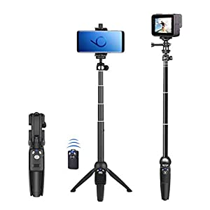 Selfie Stick, 40 inch Extendable Selfie Stick Tripod,Phone Tripod with Wireless Remote Shutter Compatible with iPhone 11 11 pro Xs Max Xr X 8Plus 7, Android, Samsung Galaxy S10 S9,Gopro and More