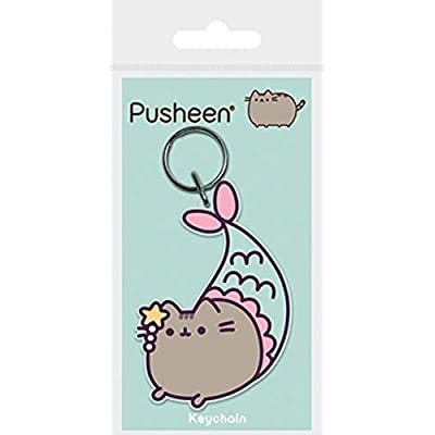 Official Licensed Gund Pusheen Mermaid Flexible Rubber Keyring Keychain: Arts, Crafts & Sewing