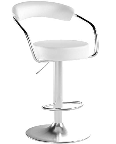Millsave 4 Modern Adjustable Counter Swivel Pub Style Bar Stools/Barstools White by Millsave
