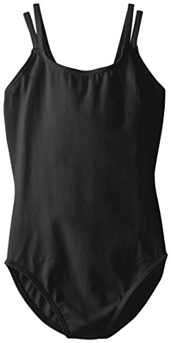 (Capezio Big Girls' Classics Double Strap Camisole Leotard, Black, Large)