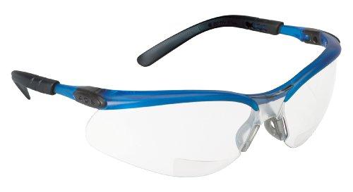 (3M BX Reader Protective Eyewear, 11475-00000-20 I/O Mirror Lens, Blue Frame, +2.5 Diopter  (Pack of 1))