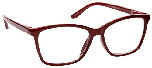- The Reading Glasses Company Dark Maroon Red Readers Large Designer Style Mens Spring Hinges R51-Z +1.25