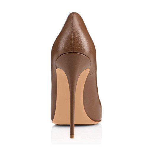 Red Caitlin Pointed Size Shoes Dress Toe On Slip Brown Womens B0tt0m Pan Formal Heel Court Shoes Pumps 11 High UK Basic Sexy Stilettos 3 qt8BrtFT