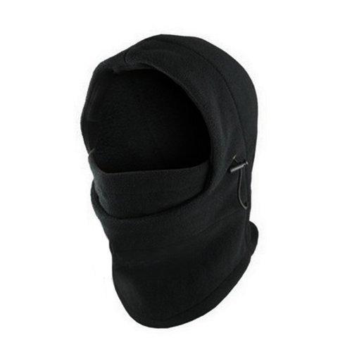 1 Winter Ski (Top Seller Newest and Functional 6 in 1 Neck Warm Helmet Winter Face Hat Fleece Hood Ski Mask Equipment Black adjustable)
