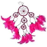 Atrapasueños 9/35 cm rosa Dream Catcher TF24