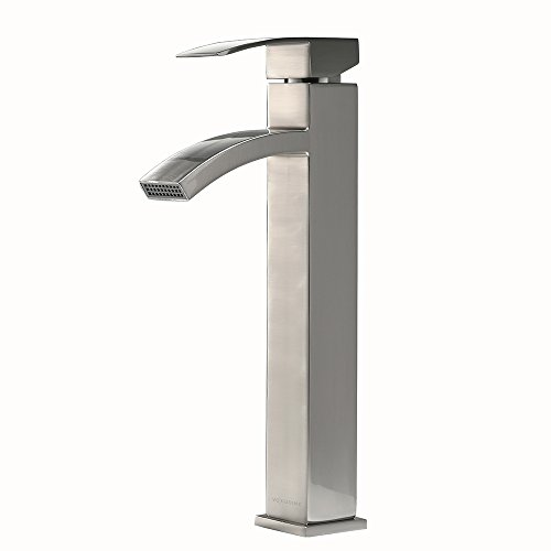 Cheap  VCCUCINE Contemporary Modern Brushed Nickel Tall Single Handle Bathroom Vessel Sink Faucet,..