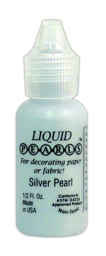 (Ranger Liquid Pearls Glue 1/2-Ounce, Silver)