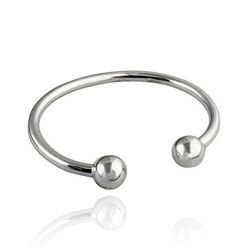 - Sterling Silver Baby or Toddler Bangle Cuff Bracelet