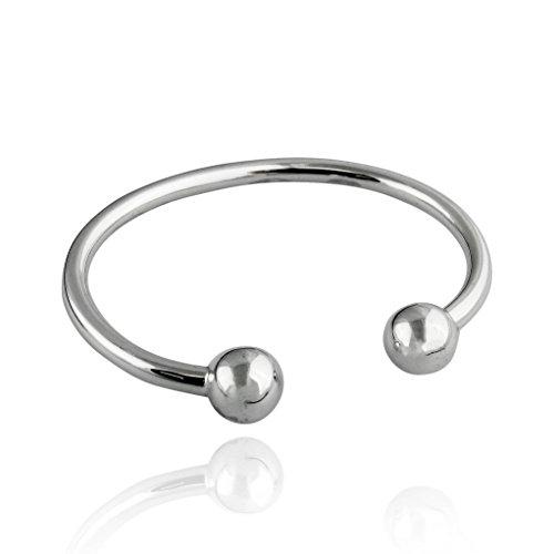 Sterling Silver Baby or Toddler Bangle Cuff Bracelet (Baby Cuff Bracelet)