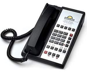 - CETIS Teledex Diamond L2-10E Hotel Hospitality Two Line Analog Corded Telephone, 10x Guest Service Buttons, Black