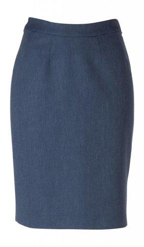Fully Lined Linen Skirt (woolmaster Women's Wool/Silk/Linen Pencil Skirt 14 Blue)