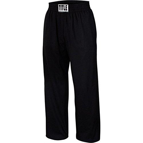 Title Boxing Cotton Jersey Pants, Black, Medium ()
