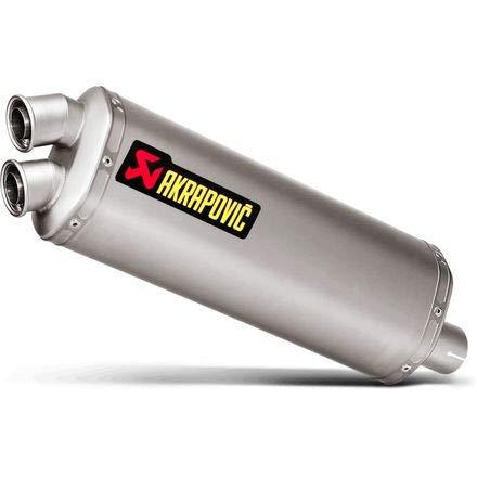 (16-18 HONDA CRF1000L: Akrapovic Slip-On Exhaust (Race/Titanium) )