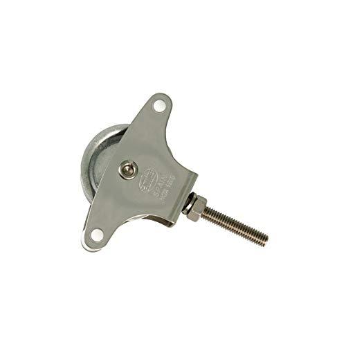 Gris Metal WOLFPACK Polea Tendedero Zincado 60mm Roldana Pl/ástico Tornillo 11x7x2 cm