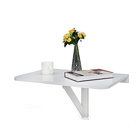 Eco-Friendly Wall Mounted Ergonomic Foldable Table for Laptop Leisure White 24x14