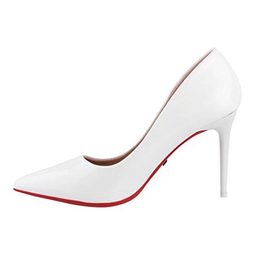 Hauts Talons Chaussures Paris Dentelle Escarpins Classique Femmes Weiß Soirée Afpaq