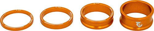 Wolf Tooth Components Headset Spacer Kit 3, 5, 10, 15mm, Orange