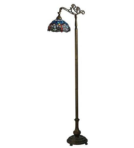 Meyda Tiffany Dragonfly Tiffany Shade - Tiffany Hanginghead Dragonfly Bridge Arm Floor Lamp