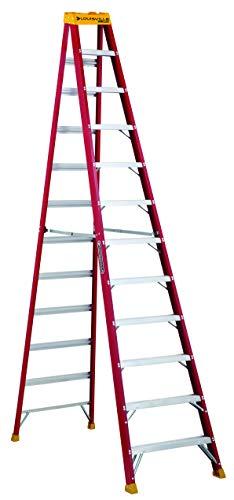 Louisville Ladder 12-Foot Fiberglass Step Ladder, 300-Pound Capacity, Type IA, L-3016-12