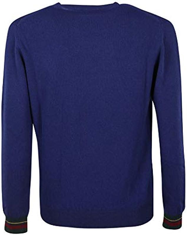 Etro Męska 1M5009761202 Niebieski wełna sweter -: ETRO: Odzież