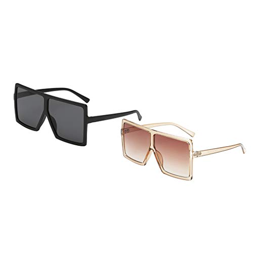 lunettes Soleil a lunettes la P de carré femmes Mode de larges cadre à 2pieces Prettyia UqFawFE4