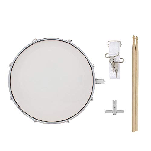 LVSSY-Snare Drum Kit,Stainless Steel Shell Snare Drum Beginner Kit Percussion Musical Instrument with Drummers Key for Students Professionals