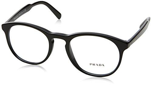 1ab1o1 Glasses - Prada PR19SV Eyeglass Frames 1AB1O1-50 - Black PR19SV-1AB1O1-50
