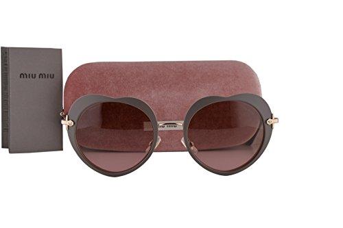 Miu Miu MU54RS Sunglasses Matte Beige w/Violet Gradient Lens U6H5P1 SMU 54R