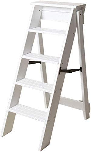 LHF Inicio Taburetes, taburete escalones Asientos de silla de escalera alta Escalera de madera Escalera de 5 peldaños Ampliación Multifunción Seguridad Plegable Portátil Estante de flores Hogar Cocin: Amazon.es: Bricolaje y herramientas
