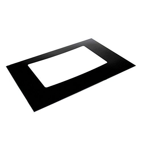 316427201 Range Oven Door Outer Panel (Black) Genuine Original Equipment Manufacturer (OEM) Part Black
