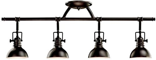 Kichler 7704OZ Rail Light 4-Light Halogen, Olde Bronze from Kichler