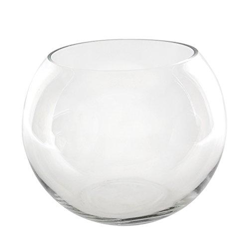 CYS 1 Piece Hand Blown Glass Bubble Bowl, 8