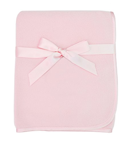 Fleece Satin Baby Blanket (American Baby Company Fleece Blanket, Pink, 30
