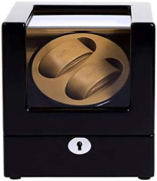 自動時計ワインダーダブル木製ラッカーピアノ光沢のある黒炭素繊維静かなモーターストレージディスプレイ時計ボックス